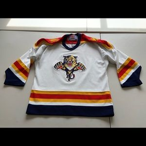 Vtg CCM Florida Panthers Jersey Boys Kids SZ L-XL